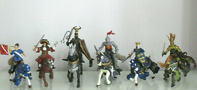 £14.99 • Buy 4 X KNIGHTS ON HORSES ACTION FIGURES.- 4 X PAO 2004 - 2014 - PLUS TWO OTHERS VGC
