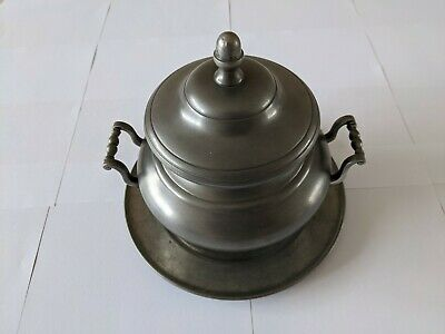 £30 • Buy Pewter Soup Tureen Made In France By ETAIN