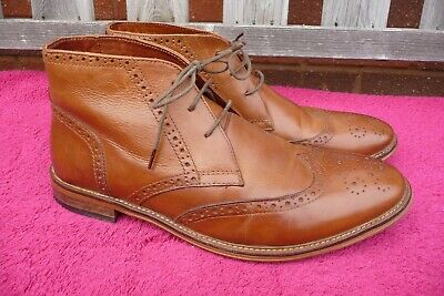 £3.50 • Buy Red Herring Tan Brogue Chukka Boots Size 10 UK , Good Used Condition.