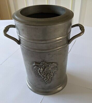£45 • Buy Pewter Wine Cooler - Made In France By Etain