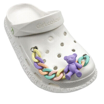 £1.79 • Buy Cute Shoe For Crocs Charms Chain Accessories Women Kids Buttons Slippers F1