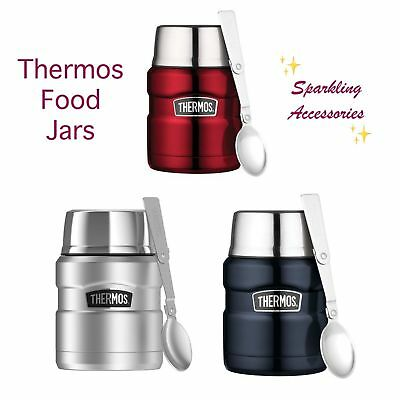 AU30.95 • Buy NEW Genuine Thermos Stainless Steel Vacuum Insulated Food Jar 470ml With Spoon!