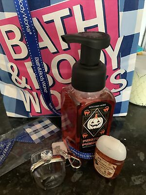 £19.99 • Buy Bath And Body Works Purrfect Pumpkin Foaming  Soap , Holder Gift Set Halloween