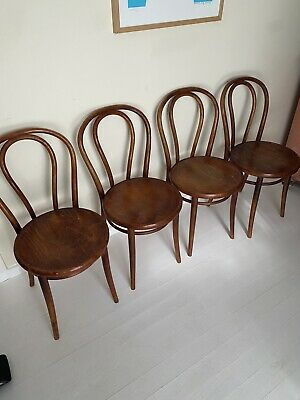 AU145 • Buy Bentwood Dining Chairs X4 Vintage Classic
