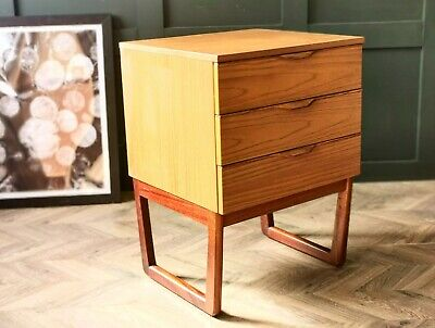 £135 • Buy Mid Century Chest Of Drawers By Europa Teak Drawers Retro Drawers Bedside Table