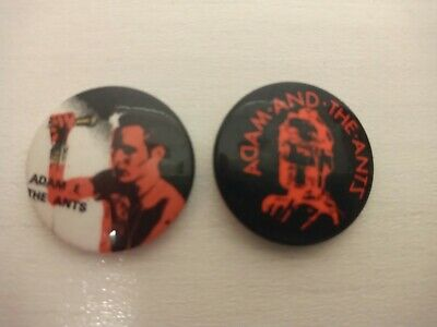 £5.99 • Buy Vintage Early 80's 2x Adam And The Ants Badges Punk New Wave