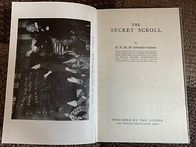 £40 • Buy Rare Occult Eastern Mysticism Book The Secret Scroll By Dr Alexander Cannon
