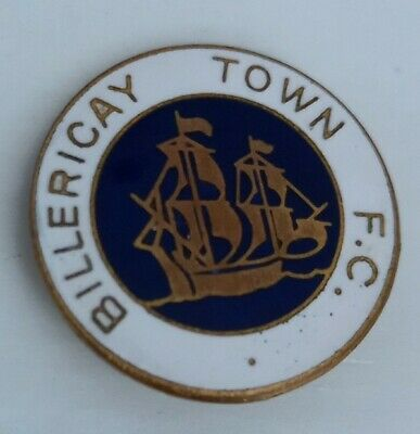 £4.50 • Buy BILLERICAY TOWN FC Football Club FC Badge Enamel Pin Non League OLD VINTAGE