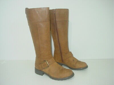 £12 • Buy CLARKS TAN LEATHER KNEE LENGTH WINTER BOOTS Size Uk 4 D