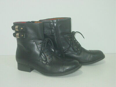 £20 • Buy NEW BLACK LEATHER CLARKS BIKER STYLE ANKLE BOOTS Size Uk 4.5