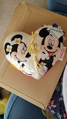 £10 • Buy Mickey And Minnie  Mouse Wedding Ring Cushion From Disneyland Paris Never Used
