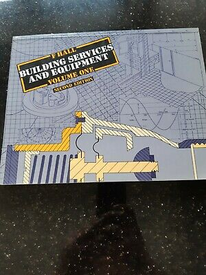 £2 • Buy Plumbing Books: F Hall Building Services And Equipment Volume 1 Second Edition