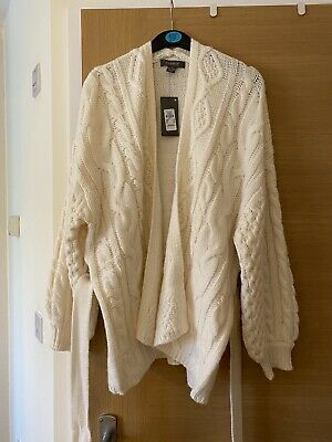£10 • Buy Primark Ladies Thick Chunky Knitted Belted Oversized Cardigan UK Size XS