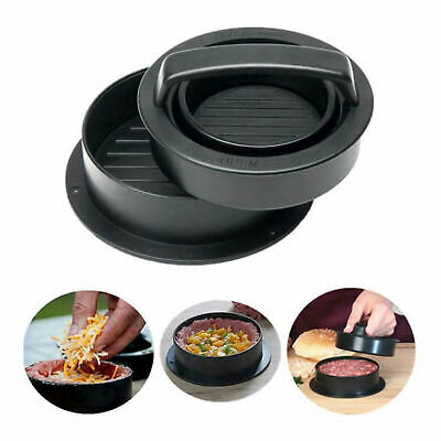 £8.06 • Buy 3 In 1 Burger Press Kit Patty Mold Beef Burger Kitchen Grilling Gadgets 5''
