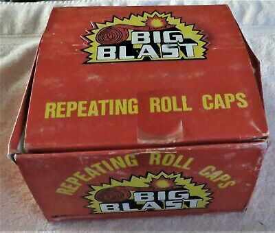£36.36 • Buy Vintage Rare Big Blast Repeating Roll Caps Counter Display Box Only
