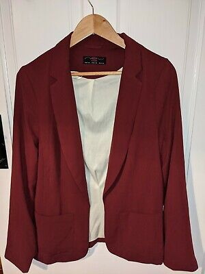 £4 • Buy New Look Burgundy Relaxed Blazer. Size 14.