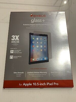 AU35 • Buy ZAGG Invisible Shield GLASS+ For Apple 10.5 Inch IPad Pro. ID9LGS-F00
