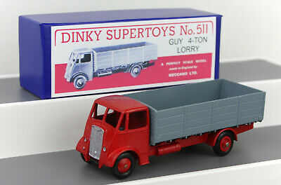 £27.99 • Buy DINKY TOYS 511 Guy 4-Ton Lorry RESTORED/REPAINTED + Repro Boxes B
