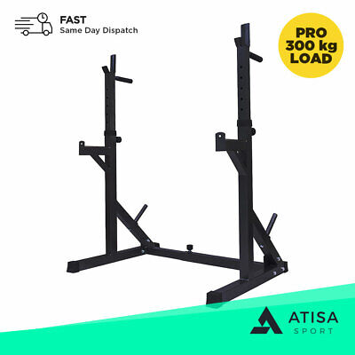 £244.99 • Buy Adjustable Squat Rack Power Weight Lifting Barbell Frame Dip Station Bench Press
