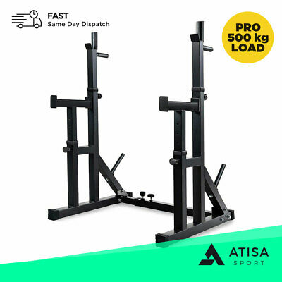 £149.99 • Buy Premium Adjustable Squat Rack  Weight Lifting Power Cage Dip Stand Barbell Bench
