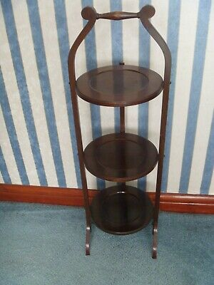 £14.99 • Buy Mahogany Three Tier Collapsible Wooden Cake Display Stand