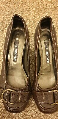 £8.99 • Buy NEXT Ladies Sole Reviver Brown Leather Shoes Size 4