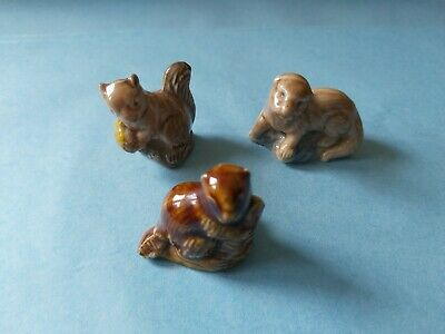 £0.99 • Buy Collection Of 3 X Wade Whimsies *Otter Beaver Squirrel* #1