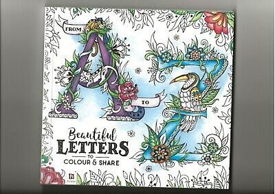 £3 • Buy From A To Z Beautiful Letters To Colour And Share New ISBN 978-1-4889-0784-5