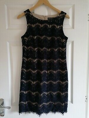 £12 • Buy Jessica Howard Navy Lace Crochet Shift Dress Party Occasion Pencil Wedding 10 12