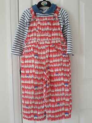 £3 • Buy Baby Boden, Girls Pink House Print Dungarees,  2-3 Years