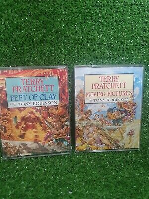 £9.99 • Buy FEET OF CLAY & MOVING PICTURES Terry Pratchett Audio Cassettes Tony Robinson Abr