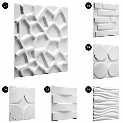 £16.61 • Buy 1pc 3D Wall Panel Decorative Wall Ceiling Tile Cladding Wallpaper Home Board DIY