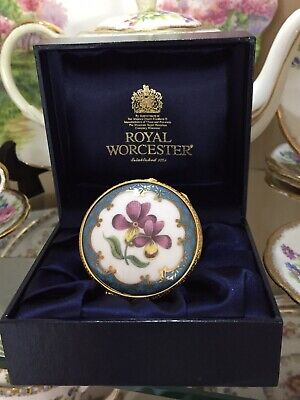 £29 • Buy Royal Worcester Floral Trinket Box Connoisseur Collection With Original Box