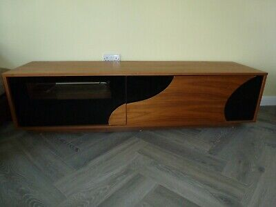 £65 • Buy Modern Designer TV Cabinet. Wood And Glass Finish. Excellent Condition