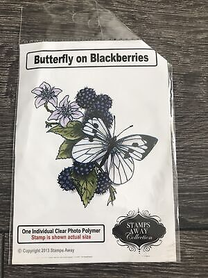 £2.49 • Buy Butterfly On Blackberries Clear Craft Stamp
