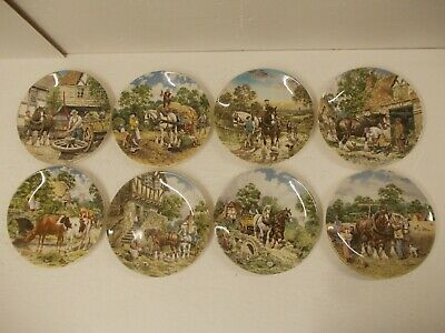 £29.99 • Buy 8x Life On The Farm Plates By John L. Chapman Queensware By Wedgwood