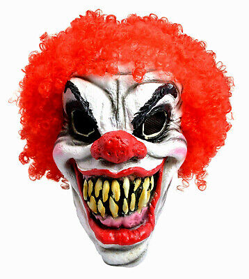£8.36 • Buy Scary Clown Mask With Red EVIL Hair Foam Halloween  Ladies Men's Mask (ONE SIZE)