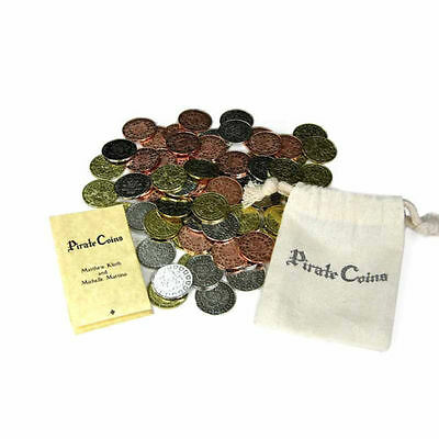AU41.03 • Buy 75 Pirate Coins Fantasy Coins Game Real Metal Tokens Board Game Cosplay RPG LARP