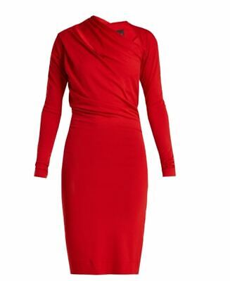 £100 • Buy Vivienne Westwood Anglomania Red Timans Asymmetric Jersey Dress Size - Medium