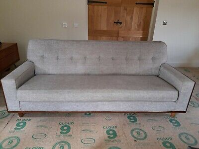 £198 • Buy G Plan Vintage, The Fifty Nine Large Sofa, Marl Grey Fabric, Excellent Condition
