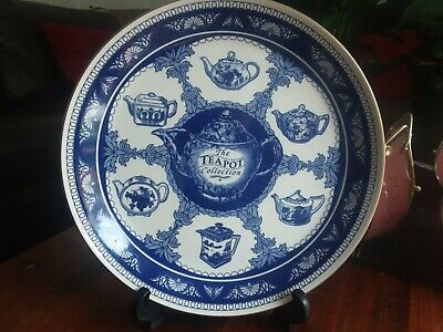 £5.99 • Buy Mason's Ringtons The Teapot Collection Blue And White Dinner Plate 10 1/8th Inch
