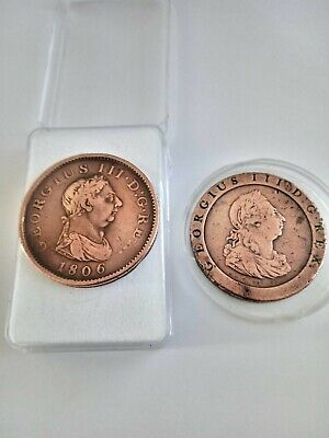 £29.99 • Buy George 111 Cartwheel 1797  And George 111 Penny1806 Coins Nice Condition.
