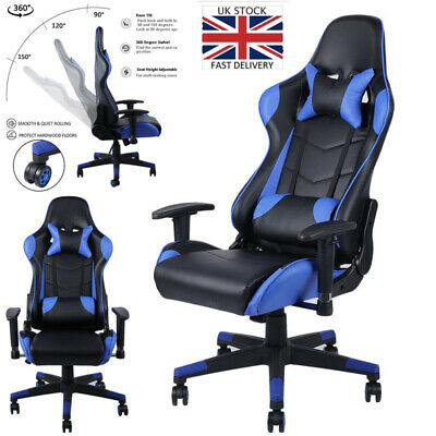 £63.99 • Buy Racing Gaming Chairs Office Swivel Executive Recliner PC Computer Desk Chair UK