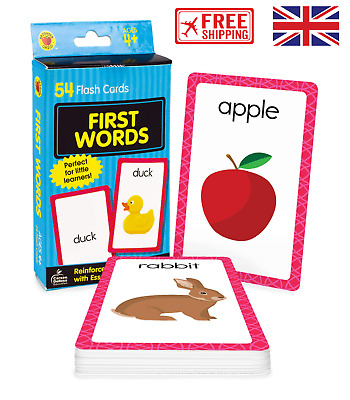 £4.35 • Buy First Words Baby Book Brighter Child Flash Cards For Toddler Gift