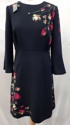 AU48.93 • Buy Hobbs London Dress Painted Rose Women's Size UK 12 EU 40 New With Tags