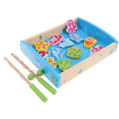 £13.25 • Buy Wooden Children  Numbers Fishing Game Toy Kids Toy Fine Motor Skills