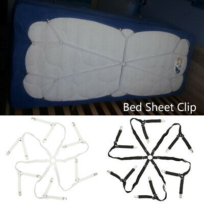 £5.99 • Buy Adjustable Bed Sheet Clips Grippers Straps Mattress Holders Fasteners Suspender