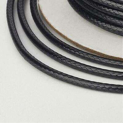 £1.49 • Buy 10mtrs Round Leather Effect Cord 100% Vegan Vegetarian Friendly 1mm, Jewellery