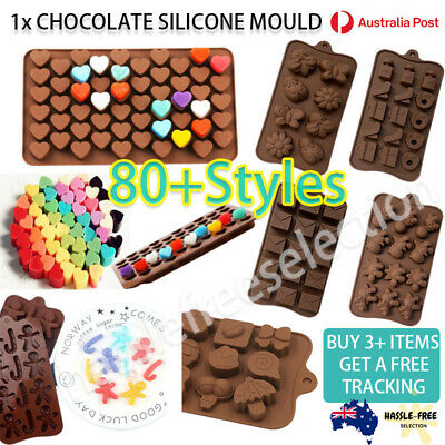 AU6.49 • Buy Chocolate Silicone Baking Mould Cake Ice Tray Candy Jelly Mold Letter Number