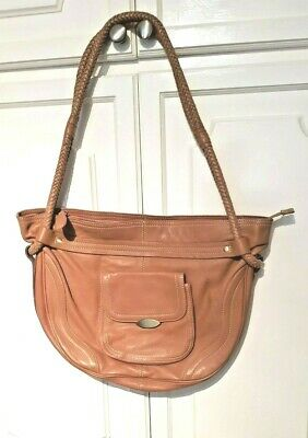 £18.99 • Buy M&S Autograph Tan Leather Shoulder Bag, Hardly Used